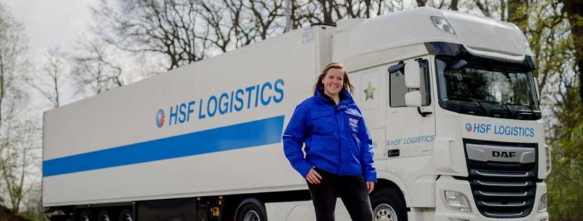 Lotte chauffeuse HSF Logistics Winterswijk